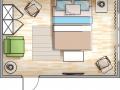 планировка спальной комнаты